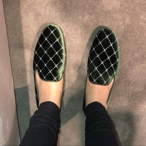 Chanel Velvet Loafers